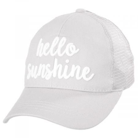 High Ponytail Hello Sunshine Mesh Adjustable Baseball Cap alternate view 15