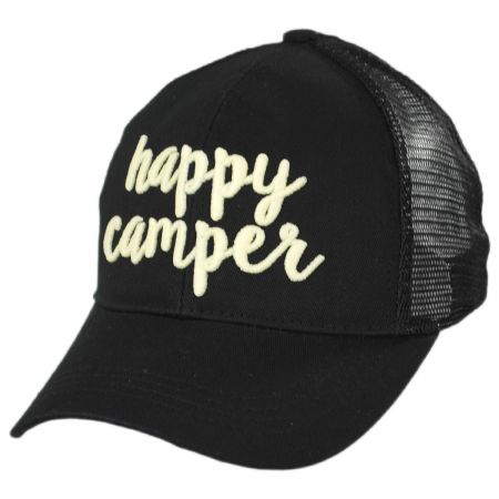 High Ponytail Happy Camper Mesh Adjustable Baseball Cap alternate view 1