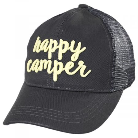 High Ponytail Happy Camper Mesh Adjustable Baseball Cap alternate view 5