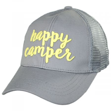High Ponytail Happy Camper Mesh Adjustable Baseball Cap alternate view 9
