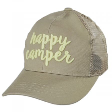 High Ponytail Happy Camper Mesh Adjustable Baseball Cap alternate view 13
