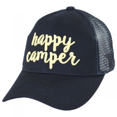 High Ponytail Happy Camper Mesh Adjustable Baseball Cap alternate view 17