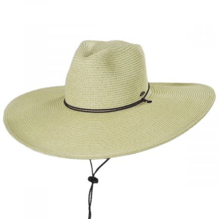 fdd18b8eed4e06 Karen Keith Lifeguard Toyo Straw Blend Sun Hat