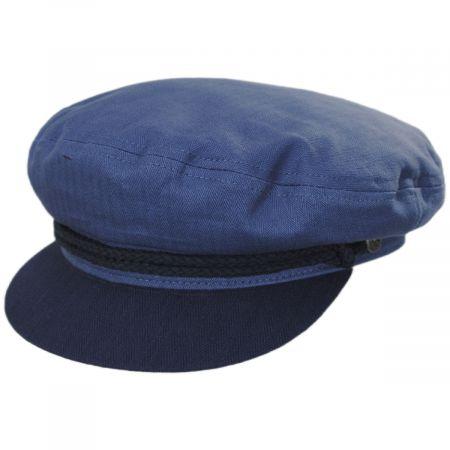 Brixton Hats Herringbone Cotton Fiddler Cap