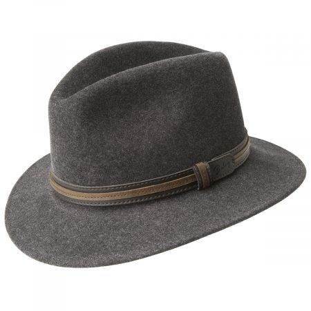 Brandt Lanolux Wool Felt Fedora Hat alternate view 2