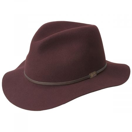 Bailey Jackman Rollable Wool LiteFelt Fedora Hat