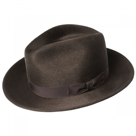 Criss Wool Felt Long Teardrop Fedora Hat alternate view 2