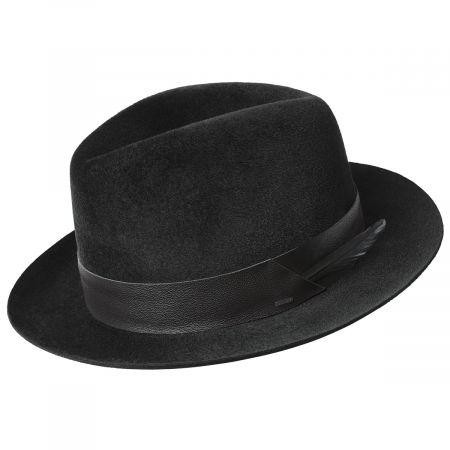 Bailey Flume Velour Fur Felt Fedora Hat