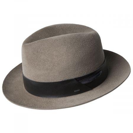 Flume Velour Fur Felt Fedora Hat alternate view 6