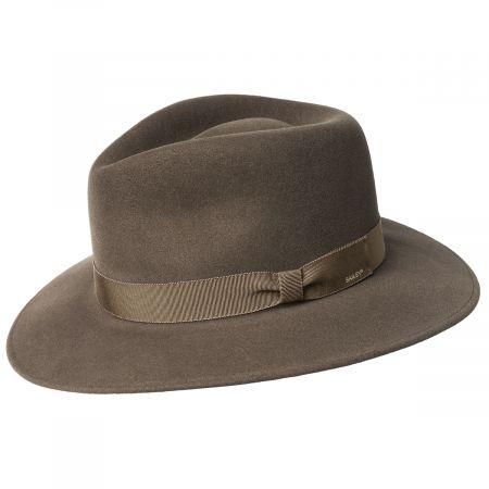 Ammon Wool Felt Teardrop Fedora Hat alternate view 12
