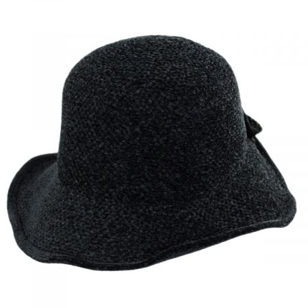 Jeanne Simmons Twist Bow Chenille Cloche Hat
