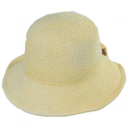 Twist Bow Chenille Cloche Hat