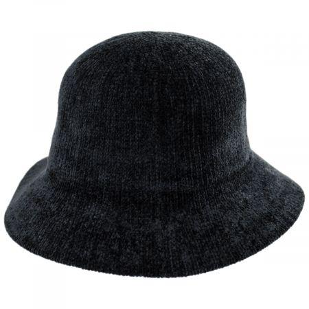 Jeanne Simmons Large Brim Chenille Cloche Hat