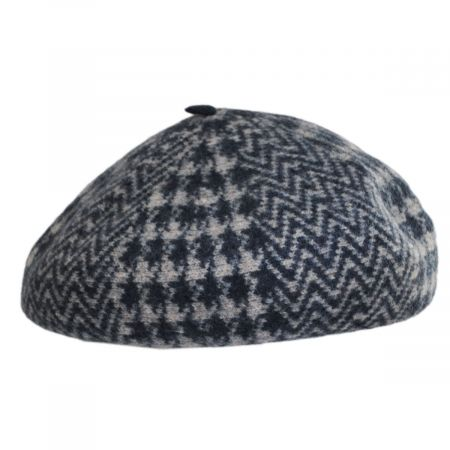 Herringbone Houndstooth Wool Beret alternate view 4