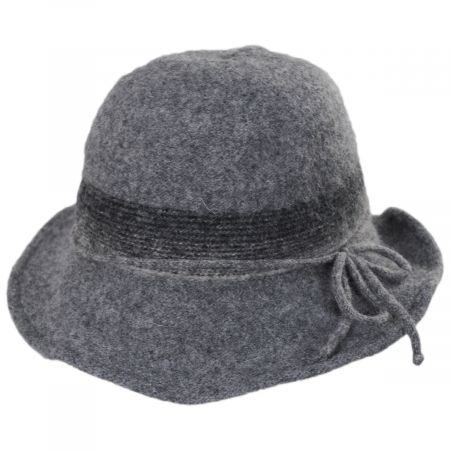 Jeanne Simmons Pinstripe Band Boiled Wool Roller Hat