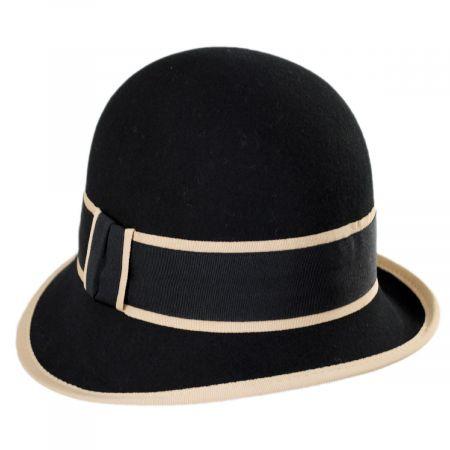 Jeanne Simmons Manners Wool Felt Cloche Hat