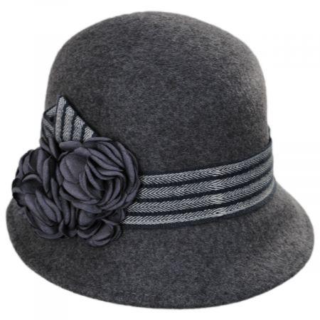 Chevron Fleur Wool Felt Cloche Hat alternate view 5