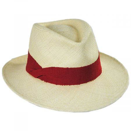 Pia Grade 3 Panama Straw Fedora Hat alternate view 9