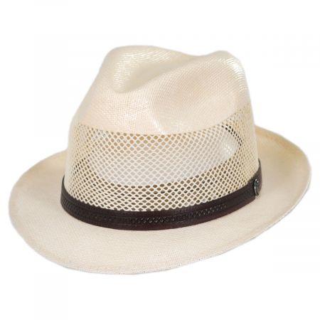 Head 'N Home Tuscany Laminated Toyo Mesh Fedora Hat