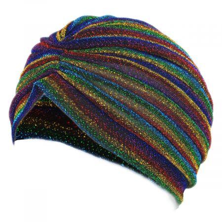 Metallic Stripe Turban alternate view 7