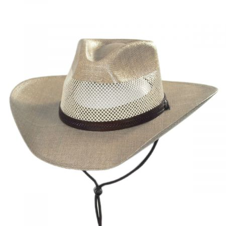 Seville Laminated Linen Western Hat alternate view 5