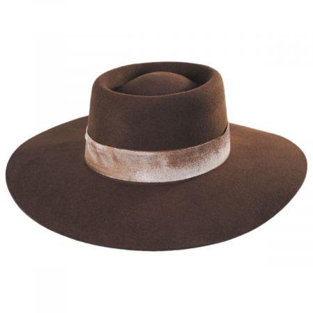 2 Sizes Jacobson Wool Felt Godfather Fedora Hat Black Adult