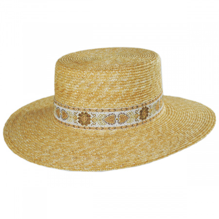 Spencer Wheat Straw Boater Hat alternate view 1