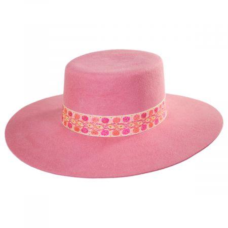 Elastic Fit Pink Faux Felt Cowboy Hat