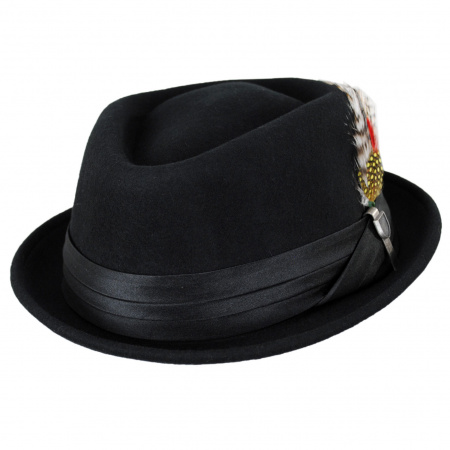 Stout Wool Felt Diamond Crown Fedora Hat alternate view 17