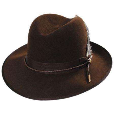 One Two Three Fur Felt Crossover Hat