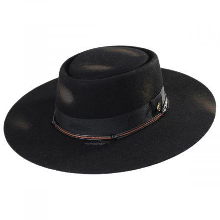 Bohemian Distressed Finish Wool Felt Bolero Hat alternate view 13