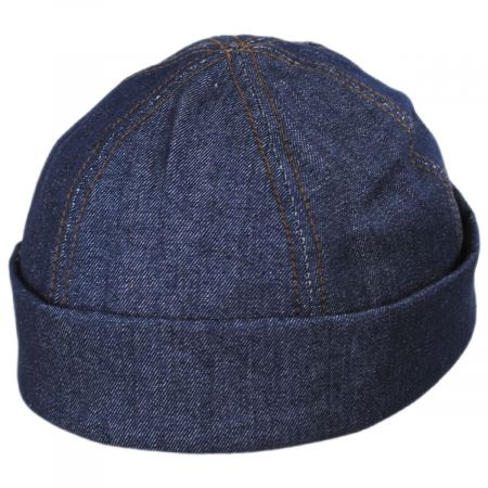 Six Panel Denim Cotton Beanie Hat alternate view 7