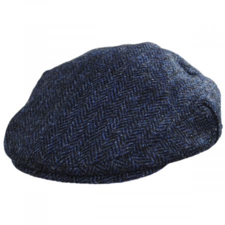 SMALL-55cm Quality Navy Wax Cotton Fully Lined Traditional Gent/'s Men Flat Cap