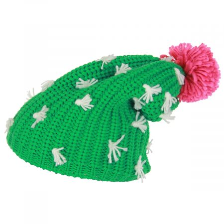 Cactus Knit Slouch Beanie Hat