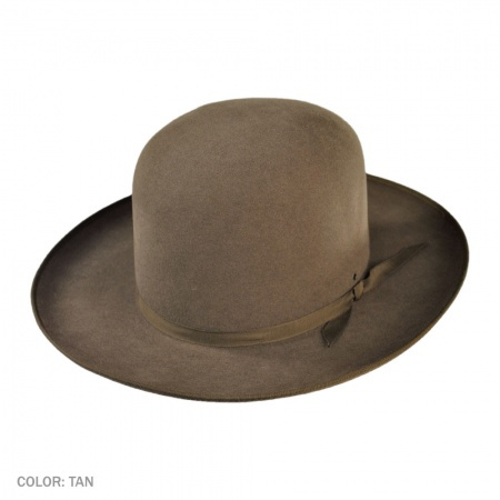 Akubra Bushman Fur Felt Open Crown Hat