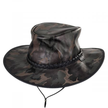 Crusher Leather Outback Western Hat alternate view 5