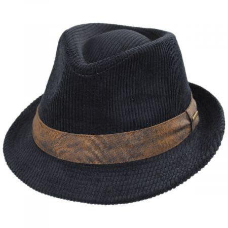 Stetson Cuff Corduroy Cotton Fedora Hat