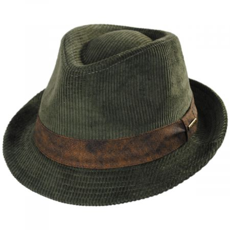 46b573473 Cuff Corduroy Cotton Fedora Hat