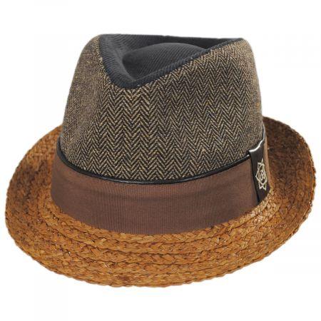 Journey Wool and Raffia Straw Fedora Hat alternate view 9