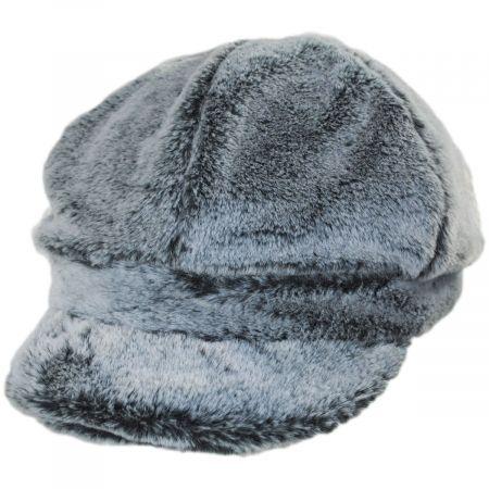 Callanan Hats Abigale Faux Fur Jockey Cap