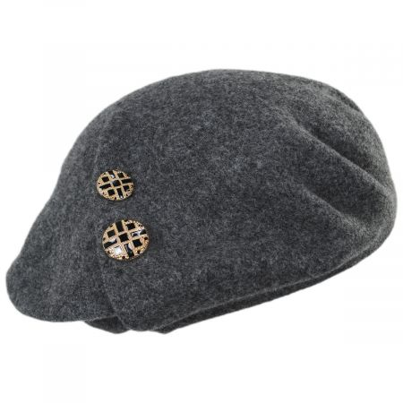 Callanan Hats Jackie Button Wool Beret