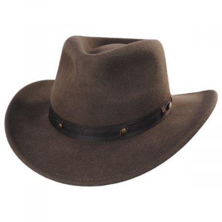 Scala Twin Falls Wool Felt Outback Hat