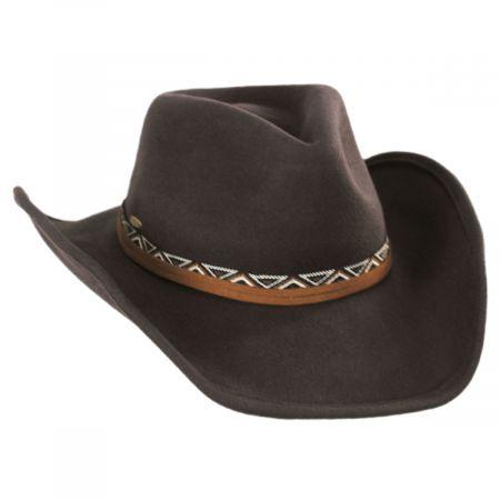 Scala Motya Wool Felt Western Hat