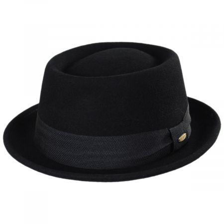 Scala Burley Wool Felt Pork Pie Hat