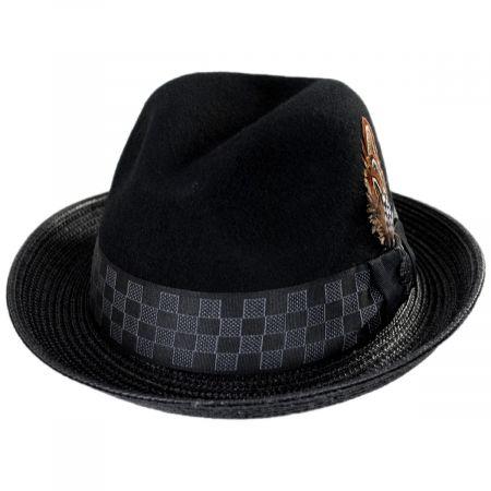 Stacy Adams Delta Wool Blend Fedora Hat