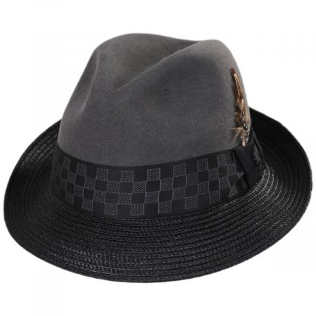 Stacy Adams Delta Wool Blend Fedora Hat