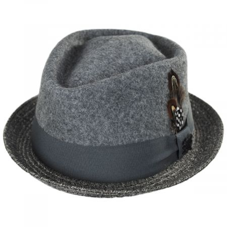 Hillsdale Wool and Toyo Straw Fedora Hat alternate view 9