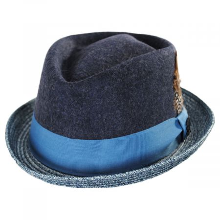 Stacy Adams Hillsdale Wool and Toyo Straw Fedora Hat
