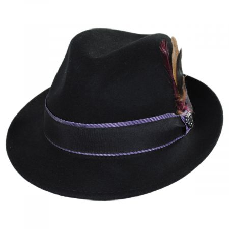 Stacy Adams Stockton Wool Felt Fedora Hat