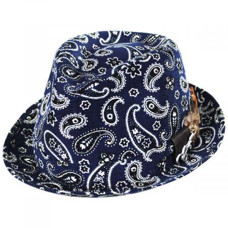 Imagine Corduroy Paisley Cotton Fedora Hat alternate view 9